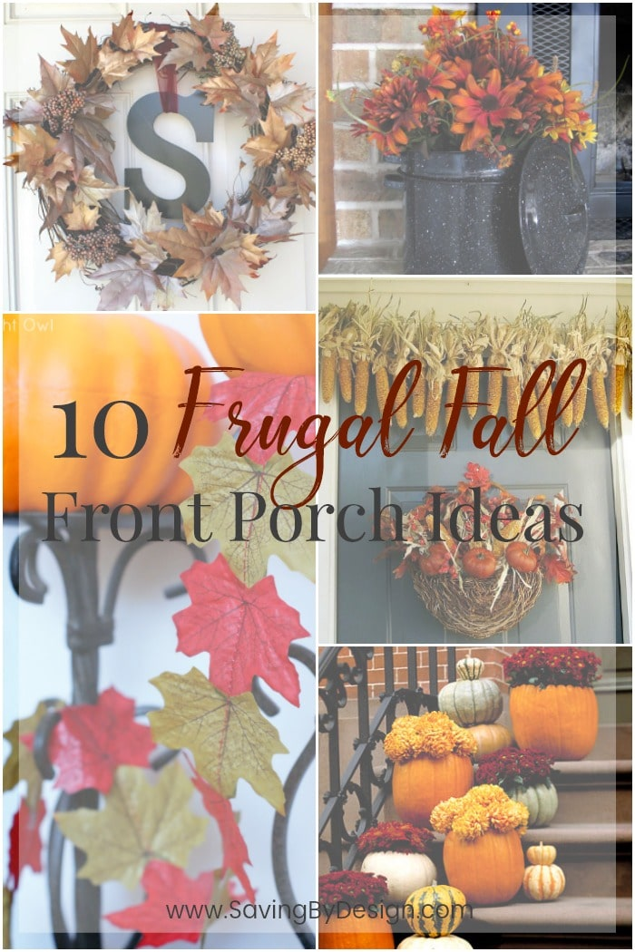 One of my favorite places to decorate is my front porch! Here are 10 Frugal Fall Front Porch Ideas to inspire your creativity as the leaves start falling.