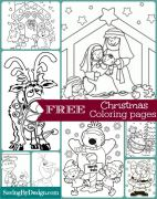10 FREE Christmas Coloring Pages