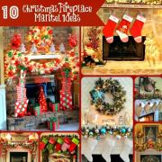 10 Fabulous Christmas Fireplace Mantel Ideas