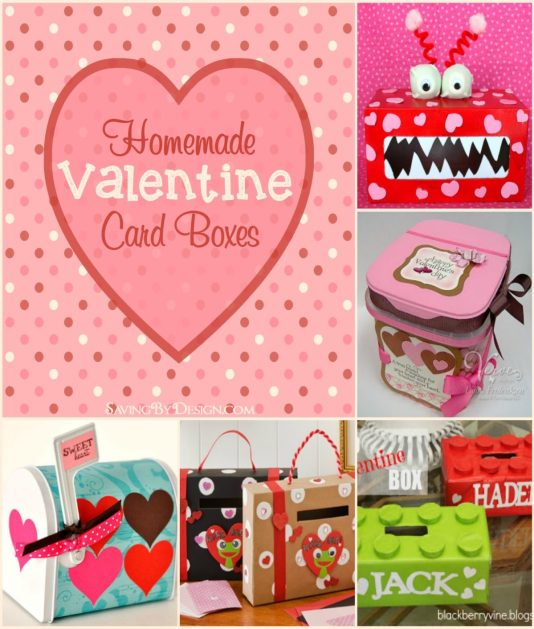 Got valentines? You need one of these adorable homemade valentine card boxes to hold all those cards and treats!