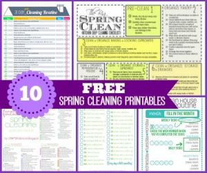 10 FREE Spring Cleaning Printables
