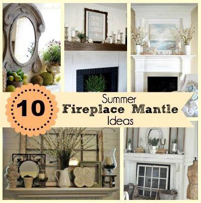 10 fabulous fireplace mantel ideas for summer