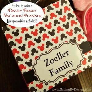 How to Make a Disney Family Vacation Planner {FREE Printables Included}