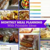 Check out these meal planning FREE printables and organization ideas to get your dinners under control!