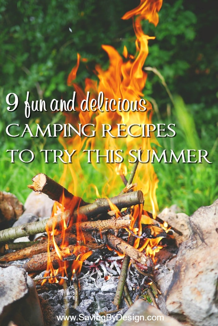 These 9 fun camping recipes are a great way to get some ideas for breakfast, lunch, dinner and most importantly...dessert!
