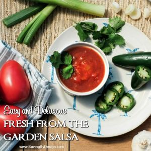 Fresh from the Summer Garden Salsa – Everything You Need Right from the Garden