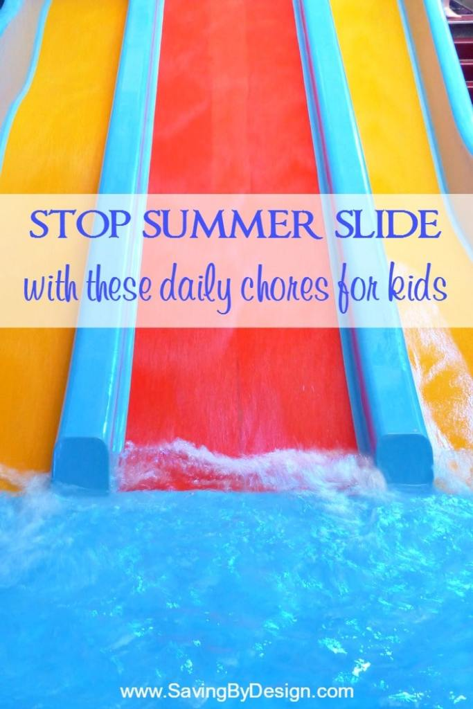 Stop summer slide and still enjoy a relaxed, fun summer with the kids. Get a free printable to remind them what chores need to be done each day.