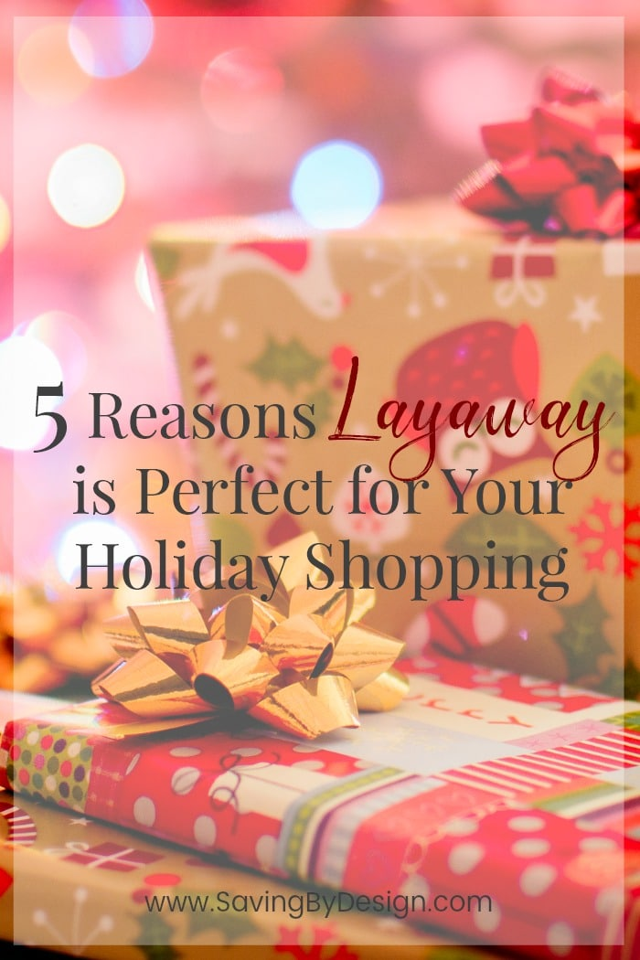 Layaway might be just what you need to get the gifts on your list! Here are a 5 reasons layaway might be the perfect plan for your holiday shopping.