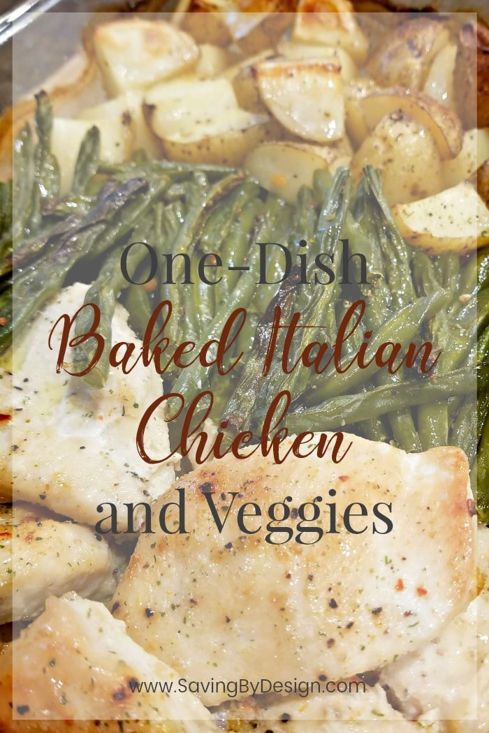 This One-Dish Baked Italian Chicken and Veggies is the perfect way to fit in a delicious, healthy meal on those super busy weeknights!