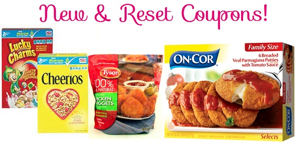 New & Reset Coupons: On-Cor, Tyson, General Mills & More!