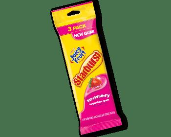 Save $0.75 off ONE (1) Juicy Fruit Starburst Gum 3-pack