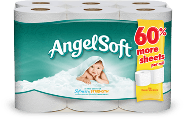 SAVE $0.45 on any ONE (1) package of Angel Soft Bath Tissue