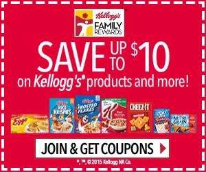 Free Kellogg's Coupons And Recipes!