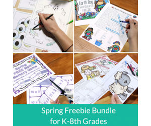 Spring Themed Resources for Pre-K through 8th grade