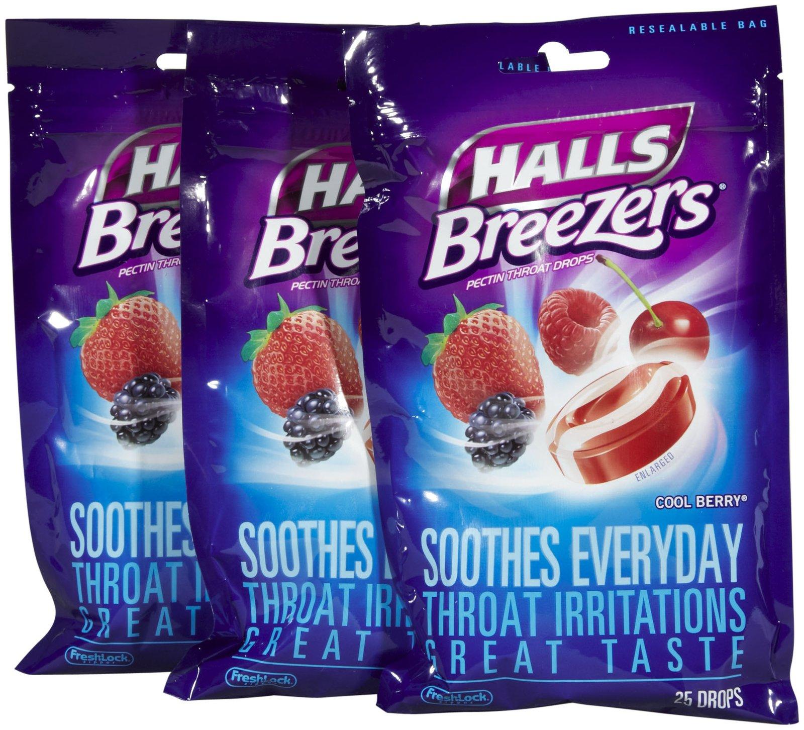 Save 50¢ on any ONE (1) Single Bag of HALLS Drops