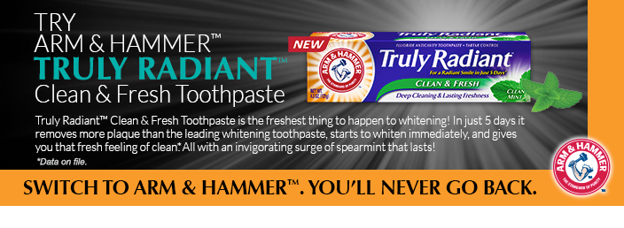 Free Sample of Arm & Hammer Truly Radiant Clean & Fresh