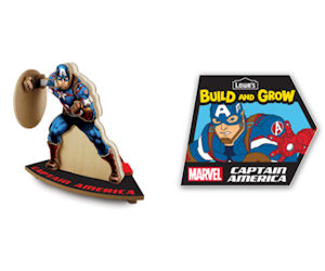 Free Captain America At The Lowe's Build & Grow Clinic