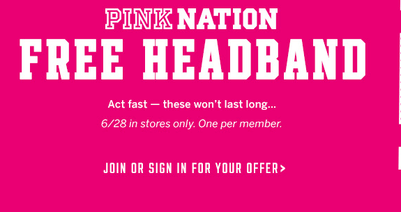 Free Victoria's Secret Headband In-Stores – Today Only!