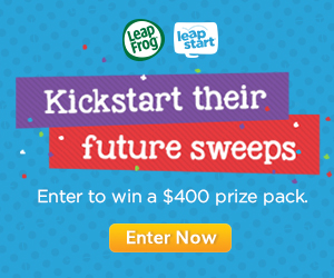 Enter LeapFrog/LeapStart – Sweepstakes for a chance to win a $400 prize pack
