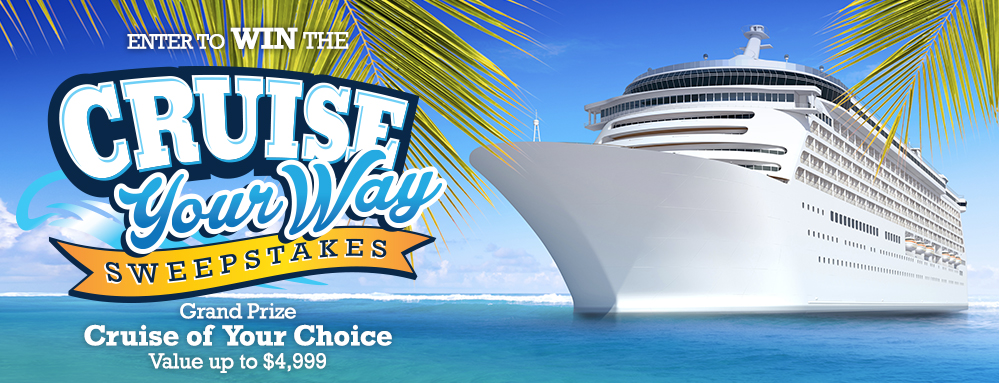 Win a Cruise of your choice valued at up to $4,999