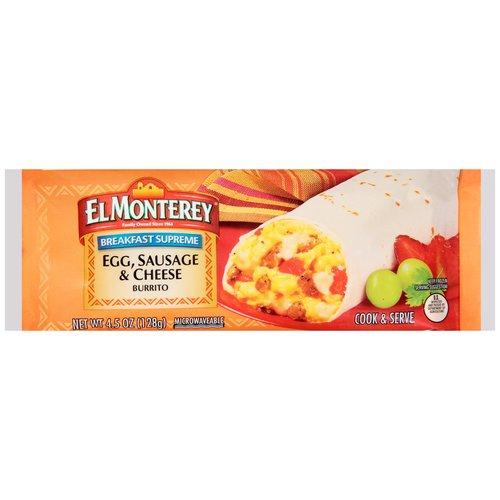 SAVE -$1.00 off any Three El Monterey Breakfast Burritos