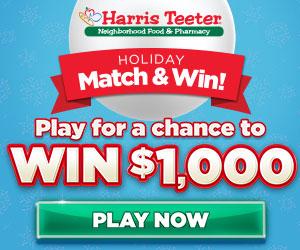 Harris Teeter – Holiday Match & Win Sweepstakes!