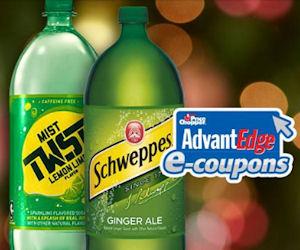 Free 2 Liter of Schweppes or Mist Twist at Price Chopper