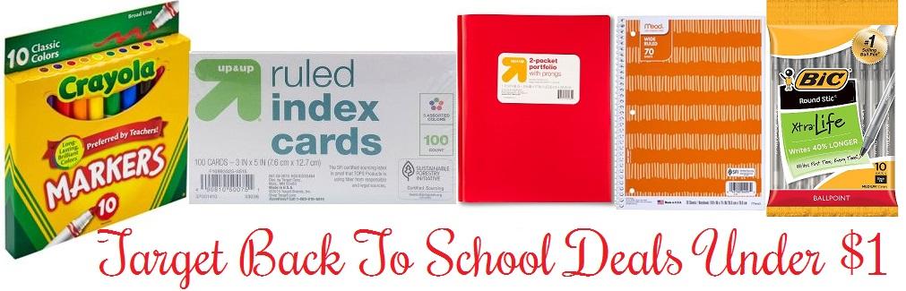 *Hot Target Deal* School Supplies For Under $1
