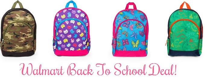 *Hot Deal* Kids Backpacks Only $2.47 At Walmart!