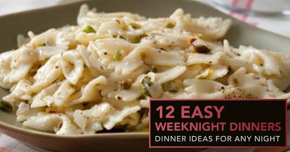 FREE 12 Easy Weeknight Dinners eCookbook