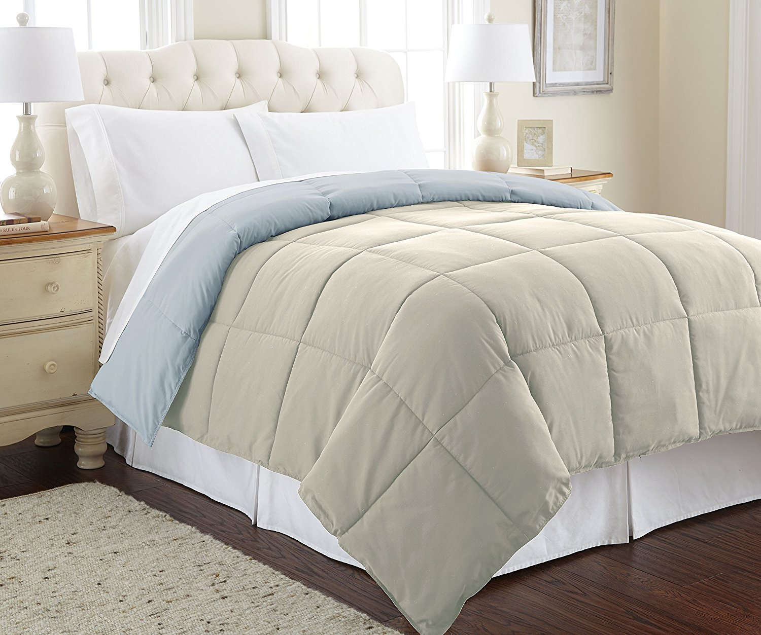 Amazon Deal: Goose Down Alternative Microfiber Quilted Reversible Comforter As Low As $19.99 Plus FREE Shipping!