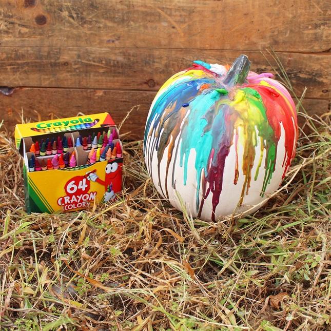DIY Crayon Melt Pumpkin Craft