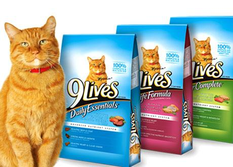 9Lives dry cat food – Save $1.00 on any ONE (1) bag