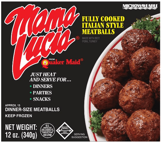 MAMA LUCIA MEATBALLS Only $0.50 at Price Chopper