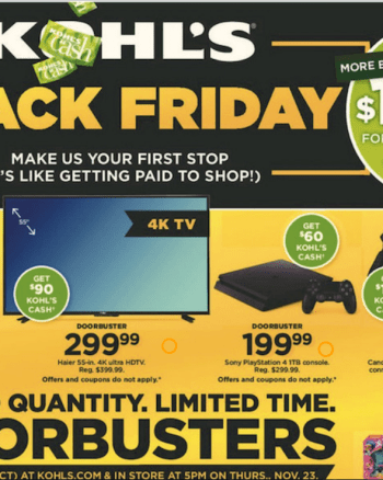 Kohl's Black Friday Ad 2017