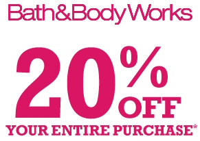 Save An Extra 20% Off All Bath & Body Works Orders Plus FREE Shipping!