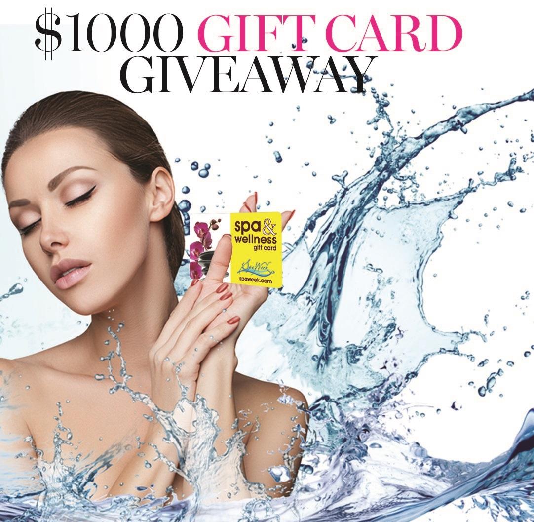 Win a $1,000 Spa & Wellness Gift Card from Spa Week