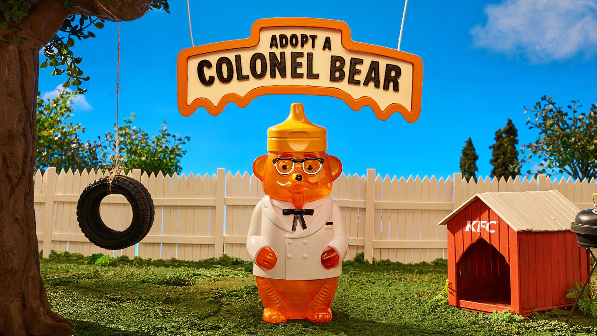 Win 1 of 705 KFC Colonel Bear Figurines worth $46 each