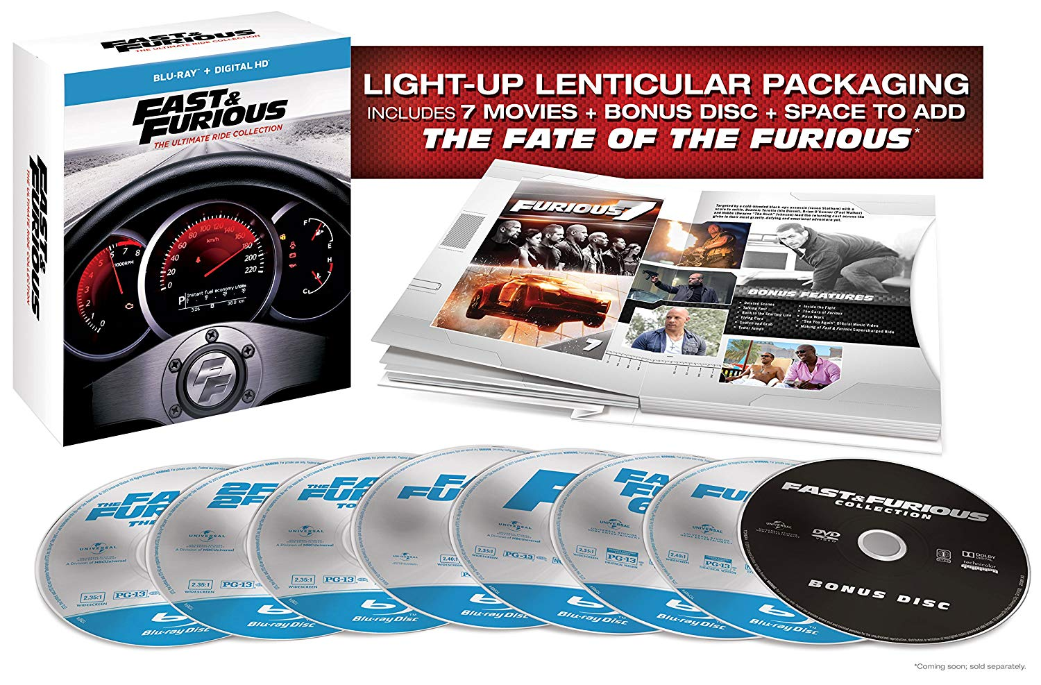 Fast & Furious Collection on Blu-ray ONLY $19.99 (Reg. $60)