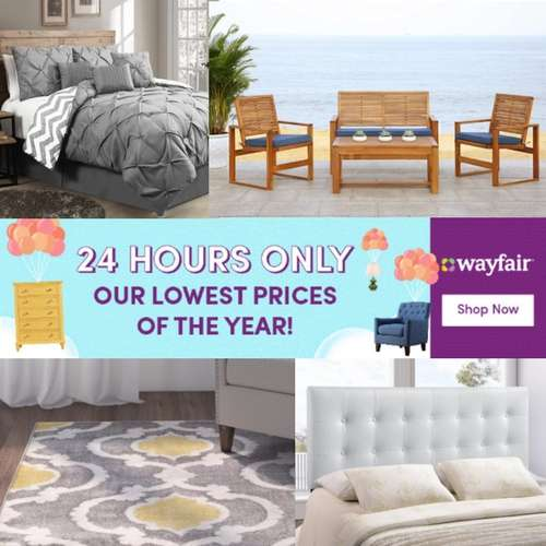 Ends TODAY Wayfair – FREE Shipping on EVERYTHING & 80% Off