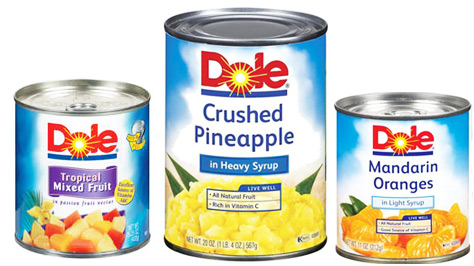 New – Save On Dole Canned Fruit