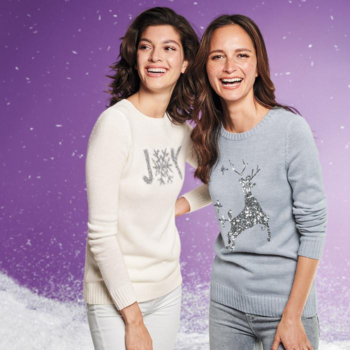 Holiday Joy & Sequin Deer Sweaters As Low As  $19.99 (Was $34.99)