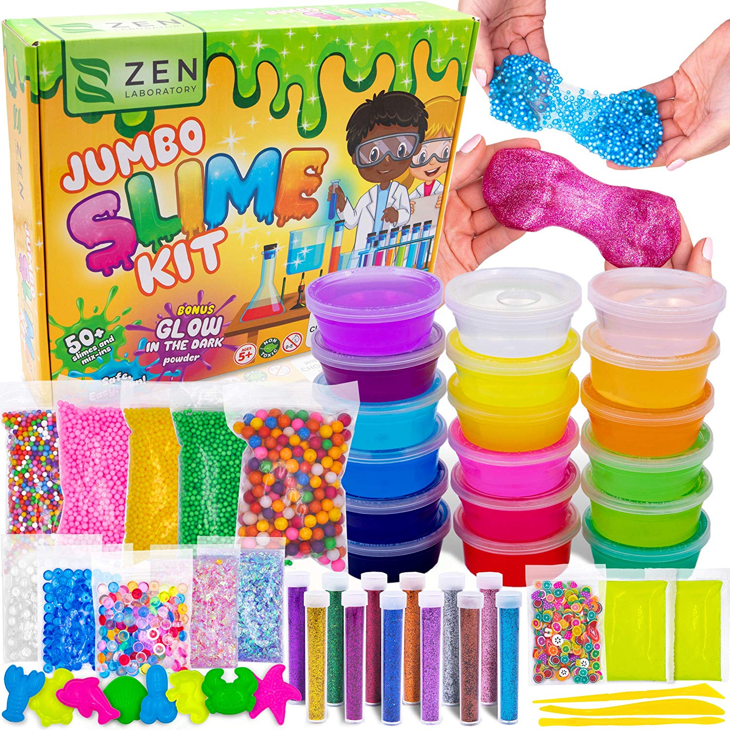 Ultimate Glow in The Dark Glitter Slime Making Kit Only $19.95 (Was $59.99)