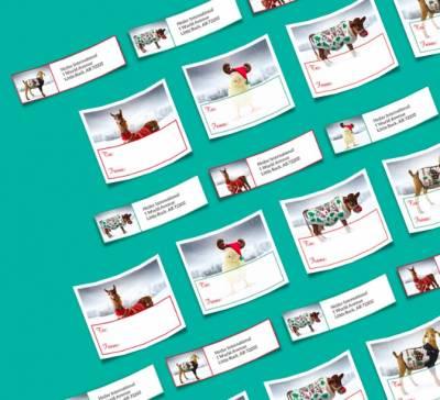 Free Heifer Holiday Address Labels