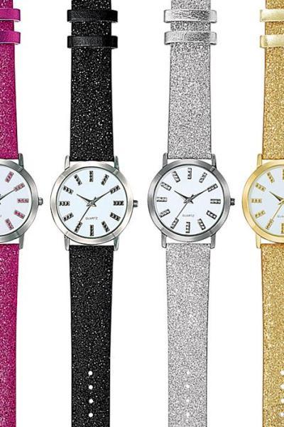 Glitter Glam Strap Watch