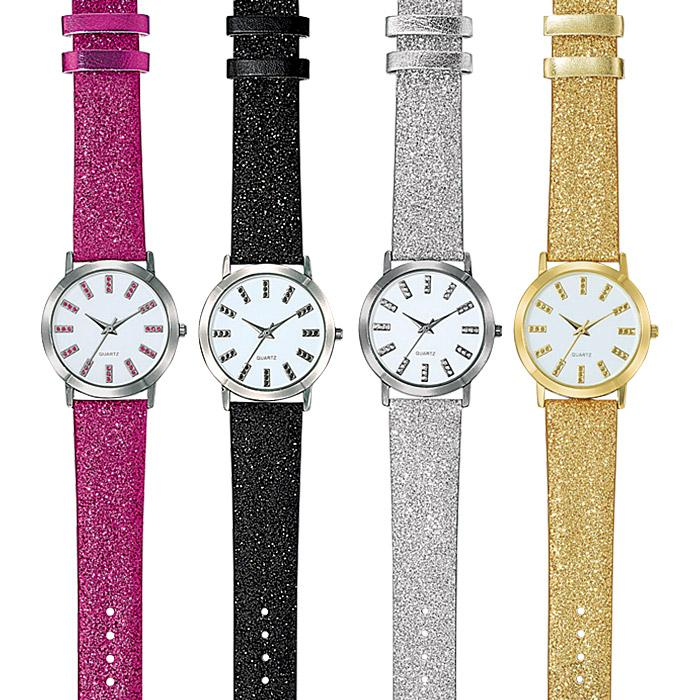 Glitter Glam Strap Watch