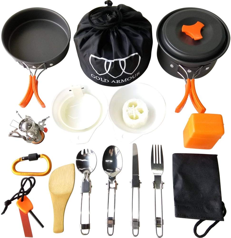 Gold Armour 17-Pc Camping Cookware Mess Kit ONLY $24.99 (Reg $80