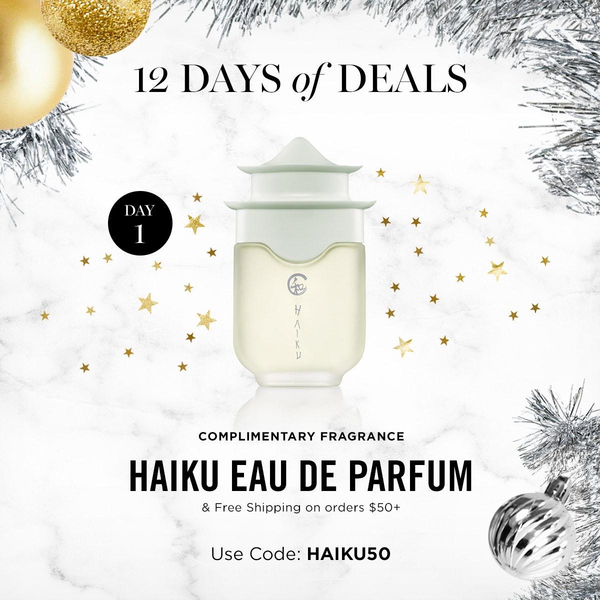 Avon 12 Days Of Deals – FREE Complimentary Fragrance Haiku Eau De Parfum