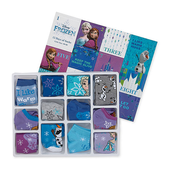 Disney Frozen Socks 12-Count ONLY $9.74 at JCPenney