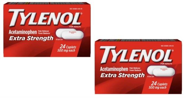 Tylenol Extra Strength 500 mg 24-ct ONLY $1.97 At  Walmart